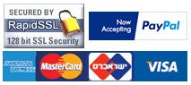 אמצעי התשלום שאנחנו מכבדים ואישור אבטחת SSL