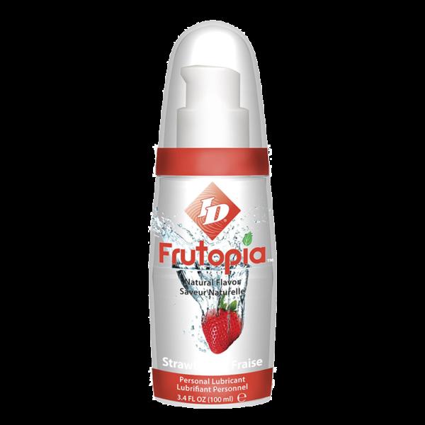 נוזל סיכה בטעמים על בסיס מים Frutopia ID בטעם תות
