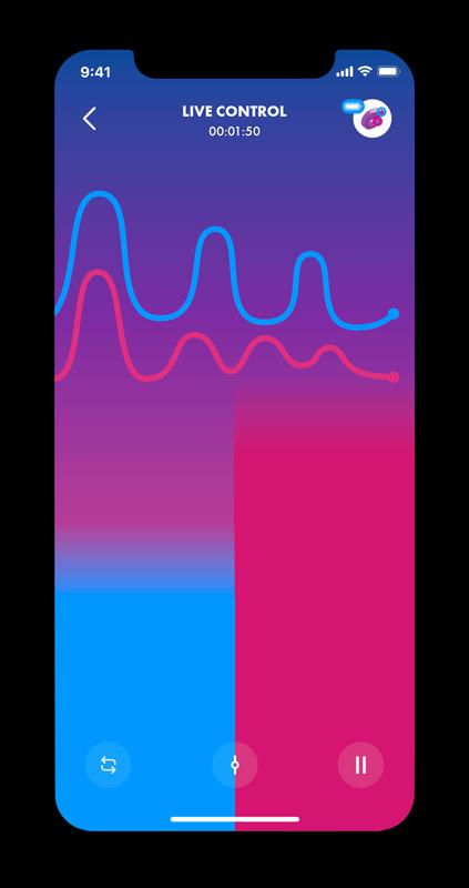 אפליקציית סטיספייר גלי רטט ועוצמות שונות גלייד